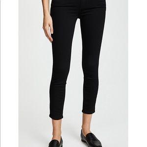 Paige skinny black cropped pants/jeans